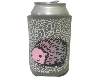 hedgehog can cooler, hedgehog can cozy, hedgie drink cozy, hedgehog can holder