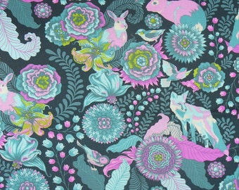 Fox Trot in Dusk / Tula Pink Fabric /  Fox Field Collection / Free Spirit / By the Yard