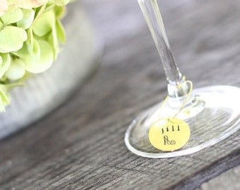 Bridal Shower Wine Glass Charms, Personalized Wine Charms, Customized Wine Charms, Wine Charms Wedding, Wine Lover Gift, Wine Wedding Favor