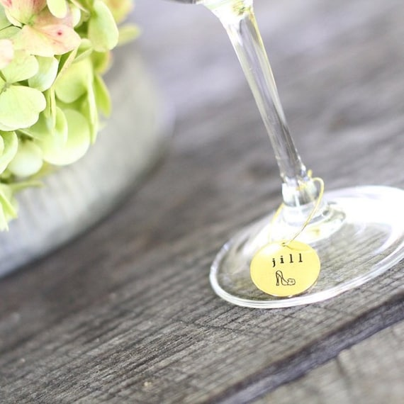 Bridal Shower Wine Glass Charms Personalized Wine Charms