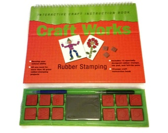 Craft Works: Rubber Stamping (Interactive Craft Instruction Book)  Spiral-bound