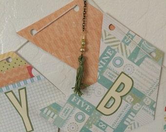 Extra Large Arrow Chevron Happy Birthday Banner Green Lettering