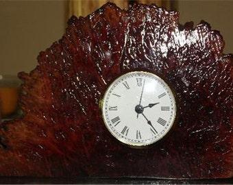 Custom Burl Wood Clock