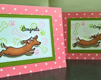 New Puppy Card, Congratulations on Your New Dog Card, Female Dog Card, Puppy Gift