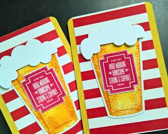 Anniversary Card for Him, I Love You Card for Boyfriend, Microbrew Card for Beer Lover