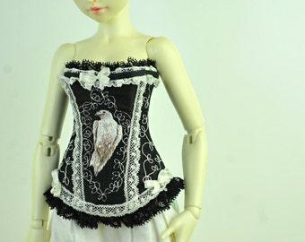 The White Raven BJD Art Line Corset for Fairyland Minifee MSD