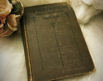 Vintage French book,  The New Chardenal Complete French Course by Grosjean
