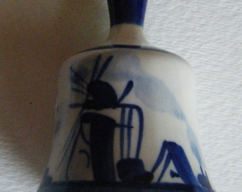 Delft Hand painted  Mini Bell Signed DA