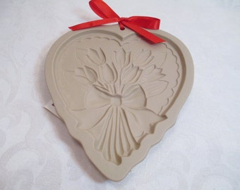 Vintage Cookie Mold- Stoneware- Brown Bag Cookie Art- Retired Mold