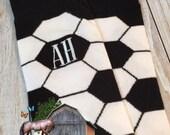 Soccer Ball Socks - Mens Monogram Socks - Crew Length - Mens Christmas Gift - second anniversary - mens gag gift - soccer gift