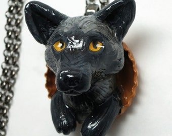 Fox Necklace, Silver
