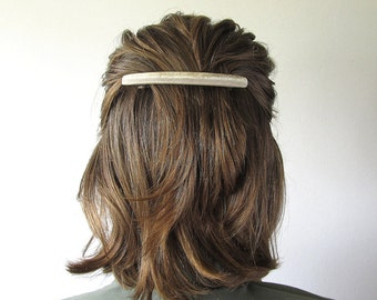 Wide Deer Horn Hair Barrette -TELEASE- Natural Antler Clip Bohemian Bride