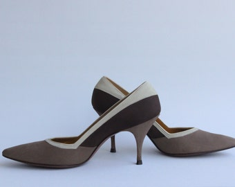 Vintage Smooth Suede Heels Designed for Ray Ehinger