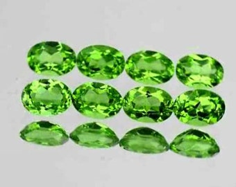 Rich Green Faceted Peridot Calibrated Ovals 6 x 4 MM, Priced Per Each, Small Size But Big Color, Natural Gemstones