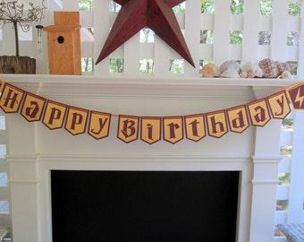 Harry Potter Banner, Gryffindor Colors Banner, Hogwarts Banner, Birthday Banner