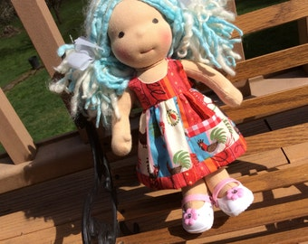 """Waldorf doll clothes, 10-12"""" slim, rooster, ooak"""