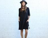 Valentines day Raglan Dress- Black.