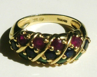 14 K Yellow Gold Ring-Size 6