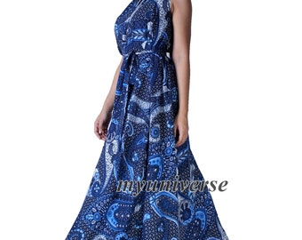 Cotton Dress Women Plus Sizes Clothing Long Maxi Dress Floral Maternity Dress Casual Beach Party Wedding Guest Blue Designer Summer Sundress