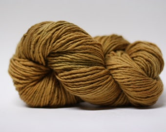 Yarn Worsted Single Ply sp Hand dyed Merino Wsp15015 Biscotti