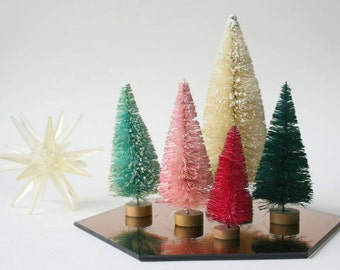 "6"" Dip Dyed Bottlebrush Trees  in Every Color by Distinguished Flamingo"