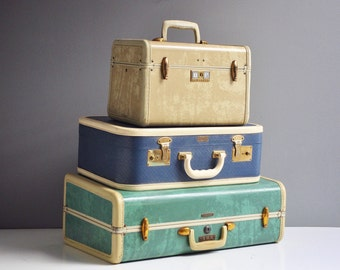 Vintage Blue Air Pak Suitcase