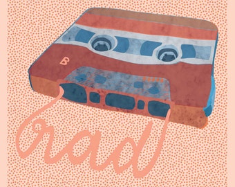 Mixed Tape Blank Greeting Card