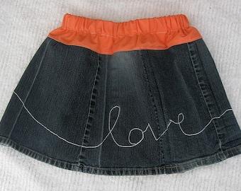 Girls Denim Skirt Size 3T 4T