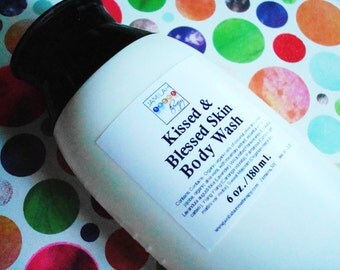 BEST SELLER - Kissed & Blessed Skin Body Wash, Organic/Wildcrafted Essential Oils, Moisturizing, Skin Softening, Shower/Bath, 6 oz./180 ml.