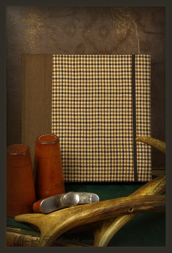 Guest book Note book secret book or guest book hunting tweed note book for man chic