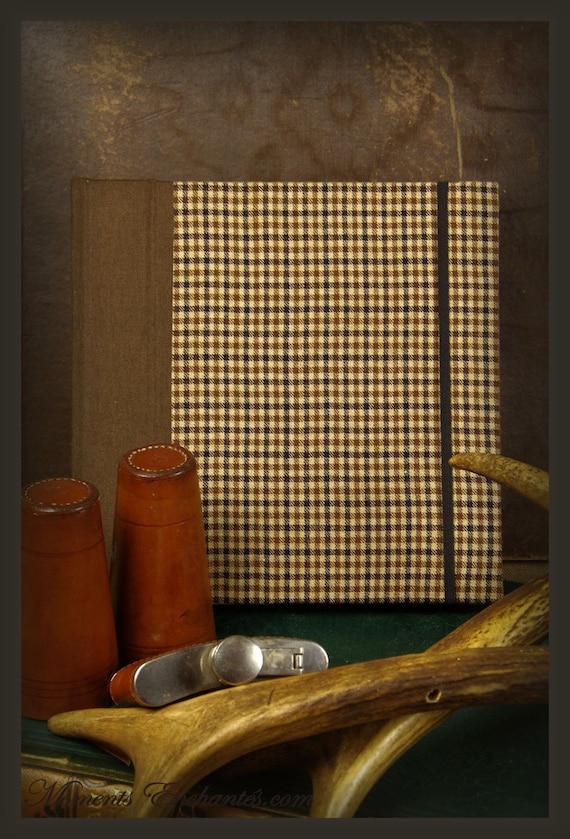 Saint valentin Guest book Note book secret book or guest book hunting tweed note book for man chic