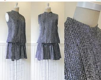 20% OFF - 1960s Party Dress --> 60s Mod Mini Dress --> 1960 Dress --> 1960s Dress --> Mod Dress --> Silver Dress --> 60s Dress