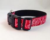 Red Paisley Dog Collar