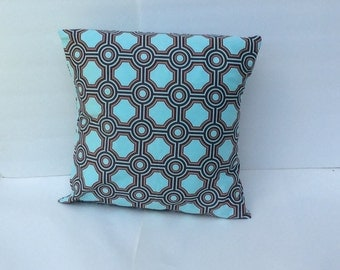 "Blue Pillow Cover / throw pillow , cushion cover, couch pillow  18"" x 18 ""  inches"