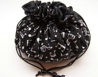 Music Notes Jewelry Pouch