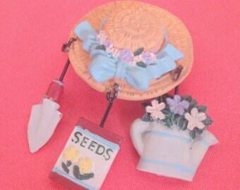 Resin Garden Theme Charm Brooch