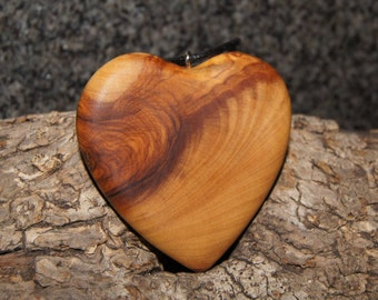Olive Wood Heart, wood jewelry
