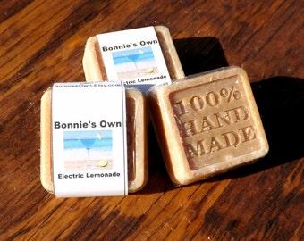 Goats Milk Soap, Electric Lemonade, 2 oz bar, Cold Process Soap, Summer Soap, Lemony Soap, Lemonade Soap, Sweet Soap, Tart Soap, Lemonaide