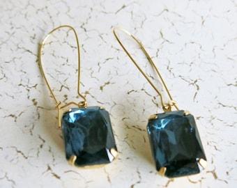 Blue Earrings Vintage Earrings Fall Jewelry Montana Blue Earrings Bridal Jewelry Wedding Jewelry Bridesmaid Gift