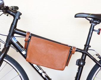 bike bag leather bicycle bag bike frame bag brown bike bag convertible bike bag frame bag men bike phone bag bike accessories