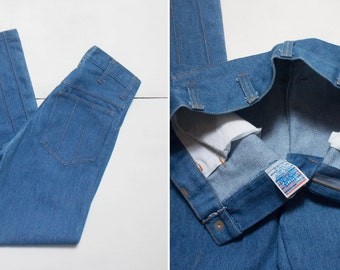 "27"" Waist   1970's Sears Bell Bottom Denim Jeans"
