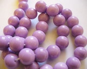 Glass  Beads Lilac Round 10MM