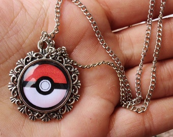 Pokeball Silver Alloy Necklace Charm