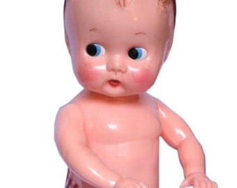 """Adorable Vintage 1950's Ideal Baby Doll  8"""", Collectible"""