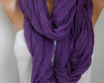 Purple Cotton Tassel Scarf, Shawl, Fall Scarf,Christmas, Cowl Oversized Wrap Gift Ideas For Her Women Fashion Accessories Mother Day Gift