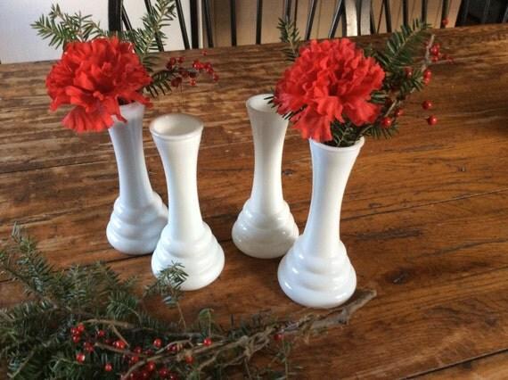vintage milk glass art deco bee hive floral vases by. Black Bedroom Furniture Sets. Home Design Ideas