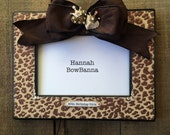 RESERVE For Laurel: Personalize Photo Frame Bow Jewel Cheetah Crown Hearts Bling