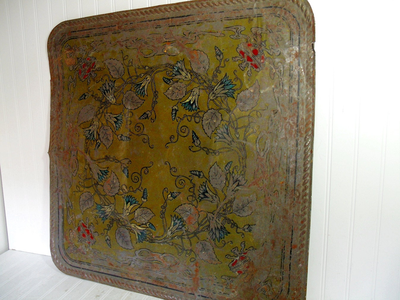 Antique Wall Decor Antique Metal Wall Art Victorian Style Hand Painted Design