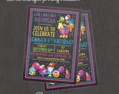 Shopkins Invitation 4x6 or 5x7 digital you print your own- Design 231
