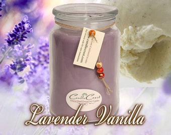 NEW~Lavender Vanilla Candles - Scented Candles- Soy Candles -Eco Friendly - 100% Soy Wax - Clean Relaxing Candles